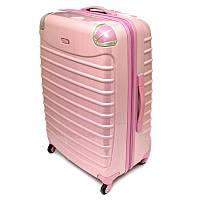 Большой розовый чемодан Tesora