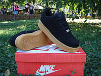 Кроссовки Nike Air Force Black Suede Low 40-45 рр