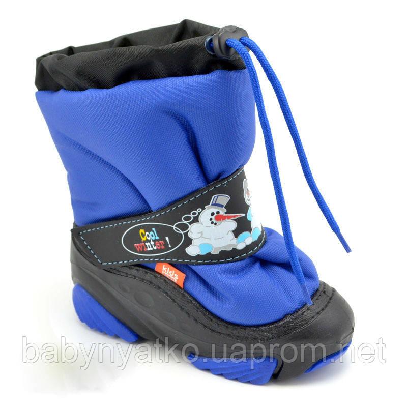 288a5857d Детские зимние сапоги-дутики Demar (Демар) SNOW MAN ярко-синие р.20 ...