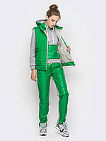 Женский теплый спортивный костюм тройка: кофта,жилет,брюки р.44