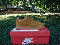 Кроссовки мужские замшевые Nike Air Force Brown Suede Low р. 40, 43, 44, фото 1