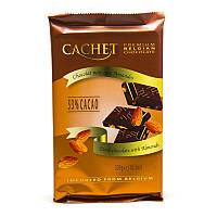 Шоколад Cachet Dark Almond 300гр. (Бельгия)