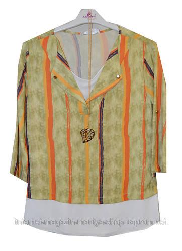 Блузка женская полоски