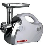 Электрическая мясорубка Vitalex VL-5300 белая, мощная мясорубка для кухни, мясорубка электро с насадками