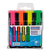 Набор маркеров 4 цвета DONAU (7358904PL-99)