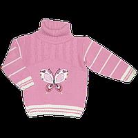 """Детский свитер """"Бабочка"""" с аппликацией, 70% акрил, 30% шерсть, Турция, р. 80, 86, 92, 98"""