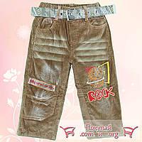 Тёплые брюки из вельветовой ткани с флисовой подкладкой для малышей от 2 до 5 лет (4733)