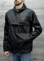Мужская куртка ветровка, анорак черный