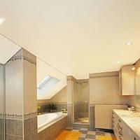Матовый натяжной потолок в ванную комнату, фото 1