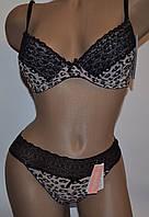 Комплект Lemila В (35653) без пуша х\б леопард серый 70 см