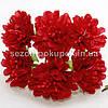 """Цветок """"Хризантема органза"""" (цена за букет из 6 шт). Цвет - красный"""