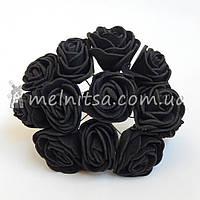 Розы из латекса, 2,5-3 см, черные