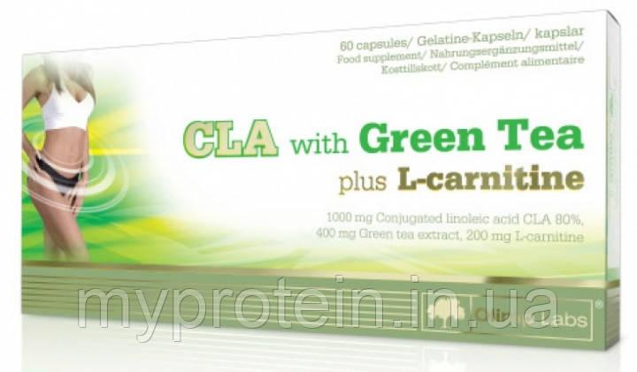 OLIMP Цла с зеленым чаем и эль-карнитином CLA with Green Tea plus L-Carnitine Sport Edition (60 caps