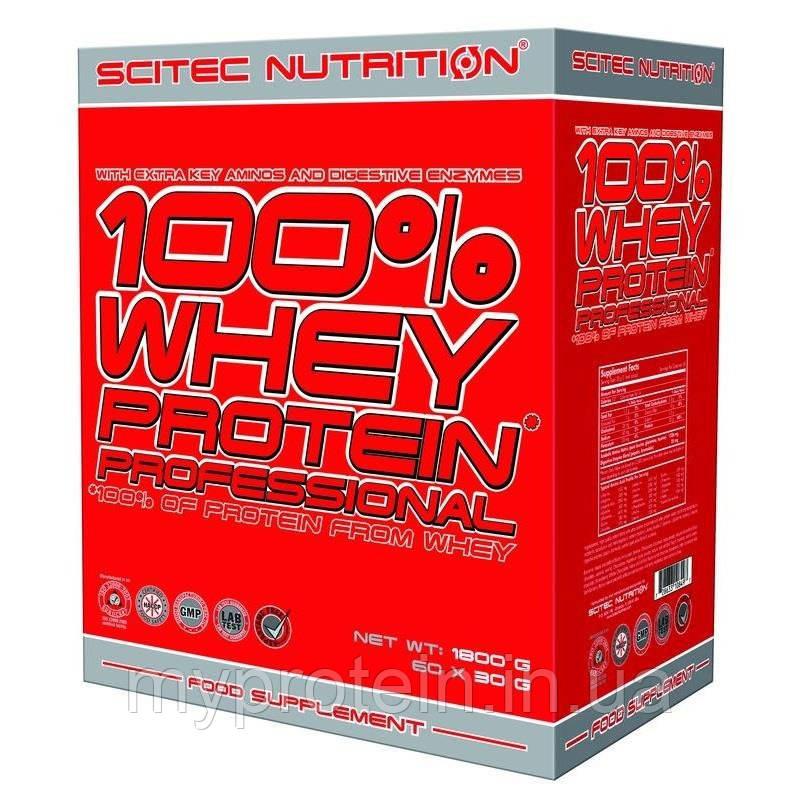 Scitec Nutrition Сывороточный протеин вей профешенал 100% Whey Protein Professional (60*30 g mix)
