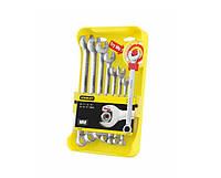 """Набор из 8-ми комбинированных гаечных ключей """"Ratcheting Wrench"""" 10-19мм Stanley 4-95-660"""