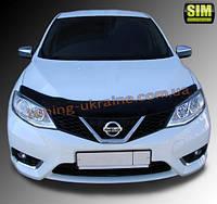 Дефлекторы капота Sim для Nissan Tiida 2015