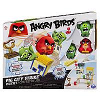 Энгри Бердз средний игровой набор Ред атакует город свинок, Angry Birds, фото 1
