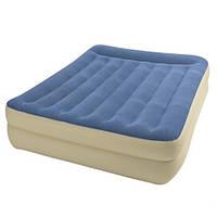 Велюровая надувная кровать 67714 INTEX со встроенным электрическим насосом