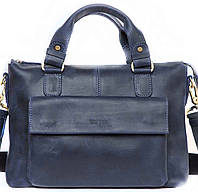 Кожаная мужская сумка Mk20 синяя