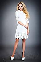 Стильное  платье-туника Лорин  молочный 42-48 размеры Jadone