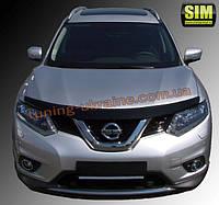 Дефлекторы капота Sim для Nissan X-TRAIL кроссовер 2014