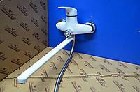 Смеситель для ванной комнаты Smack 8348 White (euro)