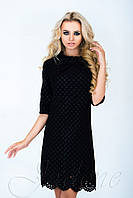 Стильное  платье-туника Лорин  черное  42-48 размеры Jadone