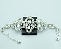 Красивый женский браслет с кристаллами и стразами. Нарядные украшения оптом недорого в Украине. 885