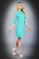 Стильное  платье-туника Лорин  бирюзовое  42-48 размеры Jadone