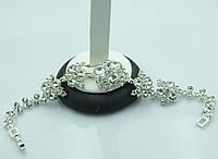 Шикарный праздничный браслет. Нежные аксессуары с камнями оптом. 888