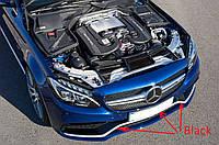 Черные накладки молдинги на передний бампер Mercedes C C-Class W205 AMG C63 новые оригинальные