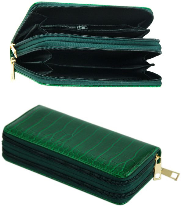 Багатофункціональний гаманець зі штучної шкіри Traum 7201-04, зелений