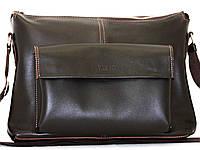 Кожаная мужская сумка Mk20.1 коричневая шоколад