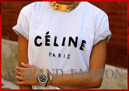 ФУТБОЛКА ♥ღ♥CELINE PARIS♥ღ♥ ~ЦВЕТ~ БЕЛЫЙ, фото 2