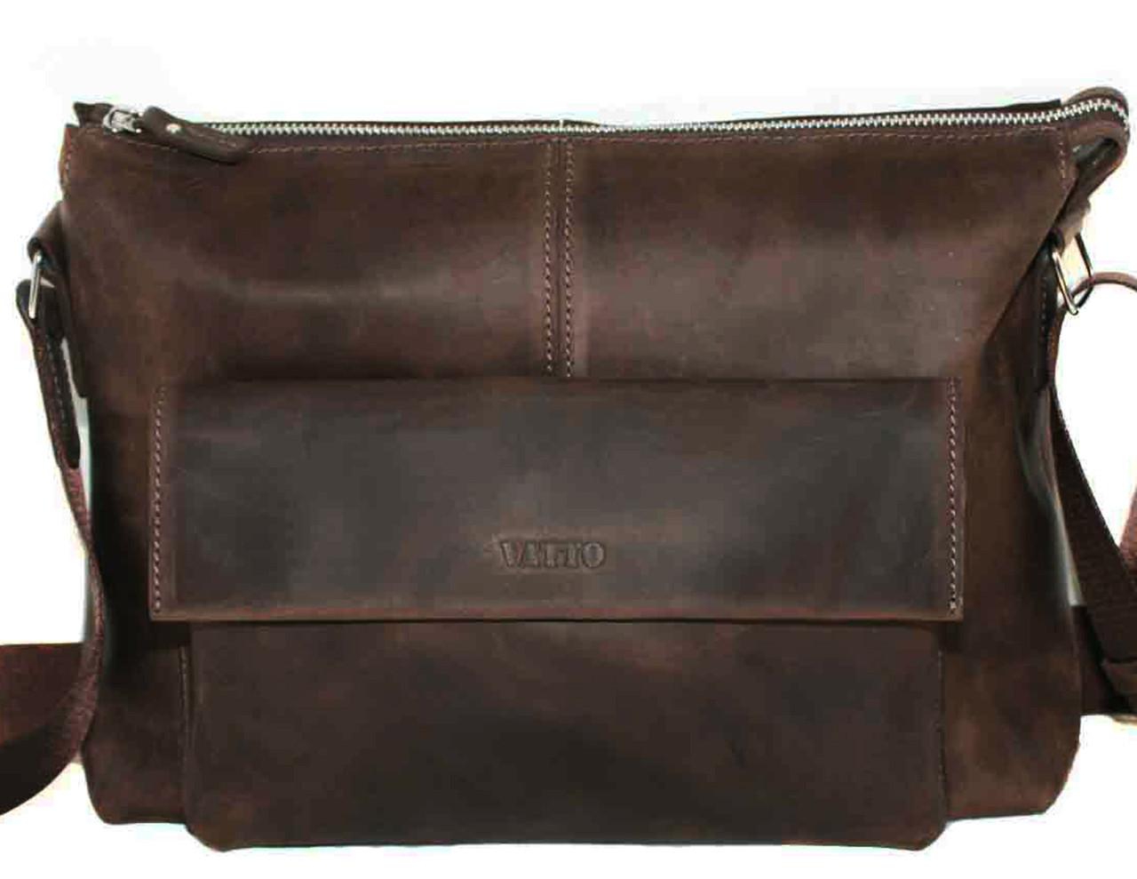 Кожаная мужская сумка Mk20.1 коричневая