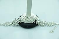 Праздничный браслет в кристаллах. Красивая бижутерия оптом для женщин. 891