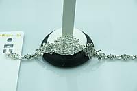 Богатый браслет в кристаллах. Красивые украшения оптом для женщин. 892