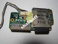Плата картриадера, с разьемами USB  Asus K51AC
