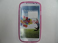 Чехол силиконовый для Samsung I9500/S4 розовый