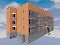 Готовый проект трехэтажной одноподъездной гостиницы на 20 номеров с коммерческими помещениями на 1 этаже № 1