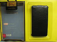 Кожаный чехол-книжка Imperium для Fly IQ456 черный
