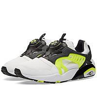 Оригинальные кроссовки Puma Disc Blaze Electric White, Black   Safety Yellow f3d9b3f5692