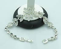 Изысканый женский браслет в камнях. Кристальные аксессуары оптом для женщин. 895