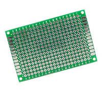 Макетная, монтажная плата двухскоростная PCB 6 x 8 см