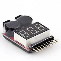 Сигнализатор-индикатор разряда аккумулятора (1S-8S Li-Po, LiIon, LiMn, LiFe) Пищалка