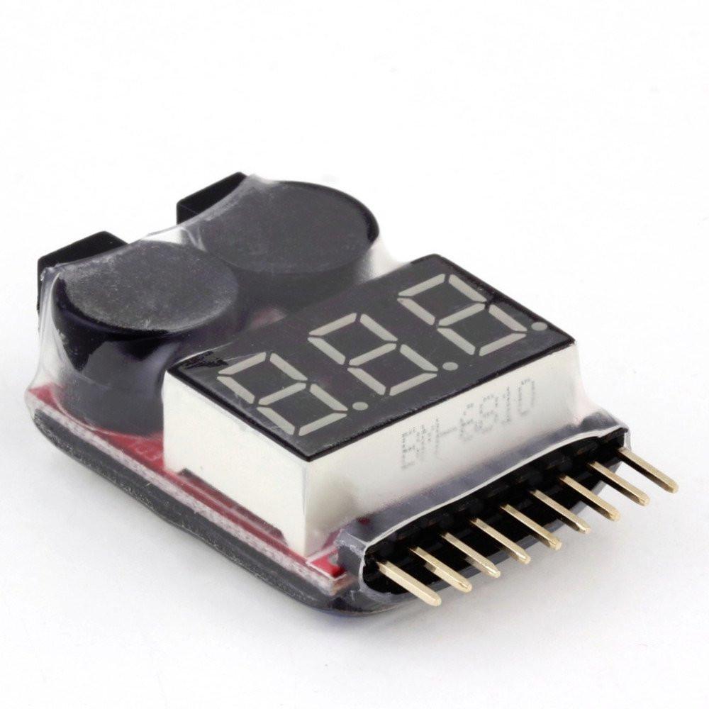 Сигнализатор-индикатор разряда аккумулятора (1S-8S Li-Po, LiIon, LiMn,