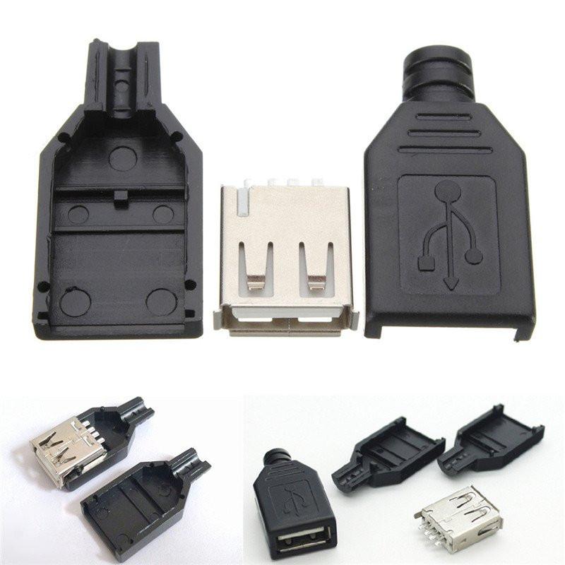 USB Штекер, разъем мама в разборном корпусе