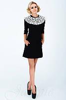 Женское классическое платье Парма черное  42-48 размеры Jadone