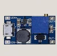 DC-DC повышающий преобразователь, 2-28V 2A, модуль micro USB XY-016
