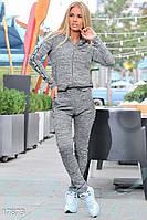 Модный спортивный костюм. Цвет серый меланж.